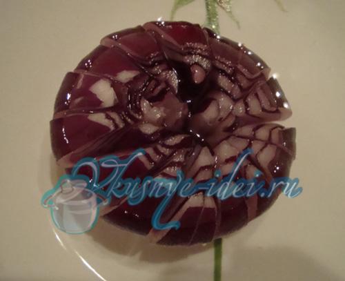Хризантема из лука - Украшения блюд.