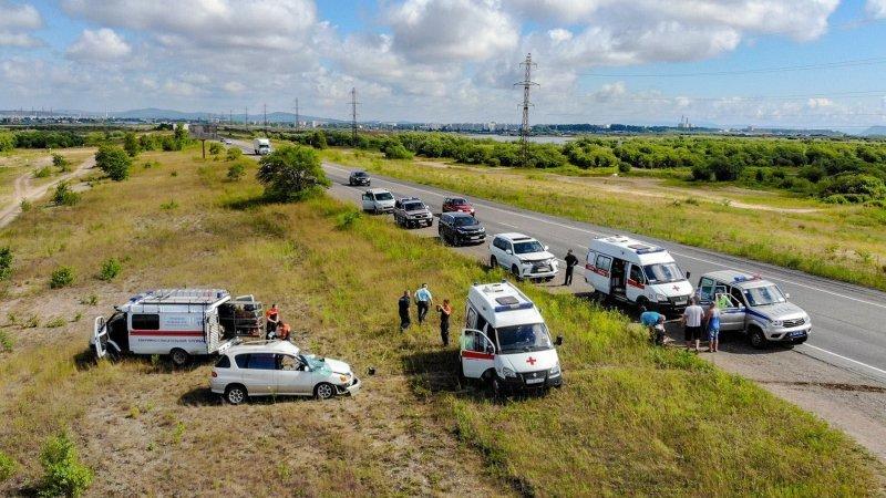 Авария дня. Пьяный водитель устроил ДТП во время обгона в в Хабаровском крае