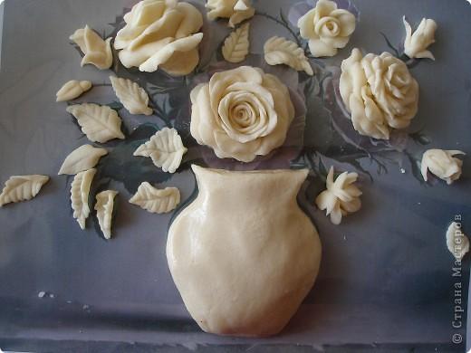 Цветок из соленого теста своими руками