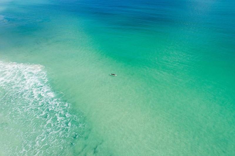 Чудесный зимний день на пляже австралия, где зимой рай, зима, красота, мягкий климат, пейзажи, тепло, фото