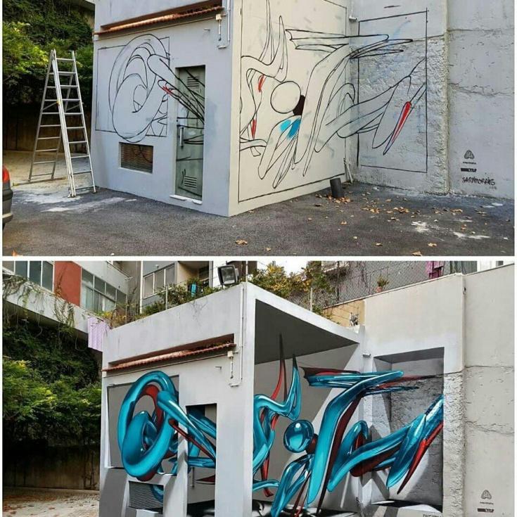 3d графитти в процессе