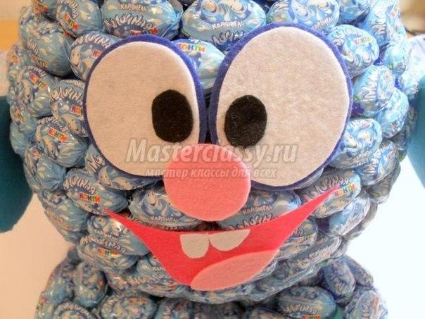 Смешарики из конфет пошаговое для начинающих 86