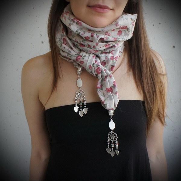 стильный шарф хомут