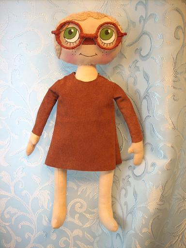 Примитивная кукла-школьница: мастер-класс