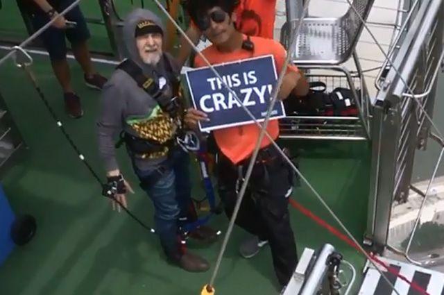 Дедовский метод. В 75 лет Николай прыгает вниз головой с высоты 233 метра