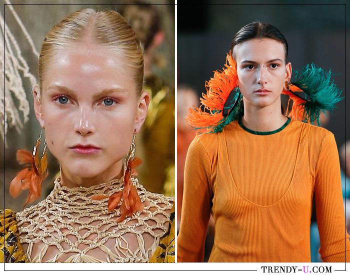 Модные серьги из коллекций Ulla Johnson и Loewe SS 2019
