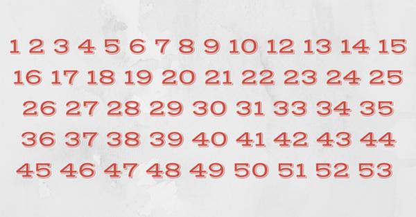 Сможете определить, какого числа не хватает быстрее, чем за 10 секунд?