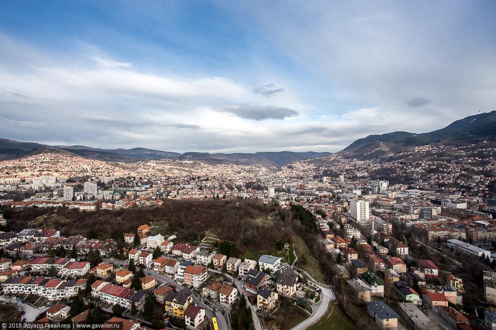 Сараево с самой высокой точки страны