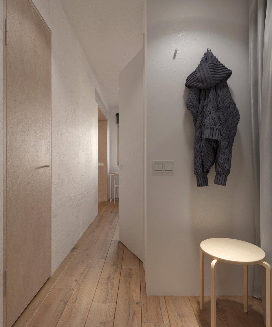 Фотография: Прихожая в стиле Минимализм, Квартира, Проект недели, Хрущевка, 1 комната, до 40 метров, Находка, KDVA Architects – фото на InMyRoom.ru