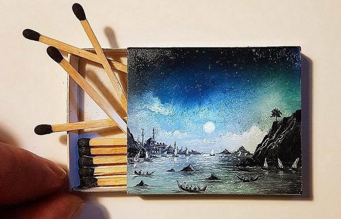 Художник создаёт миниатюрные…