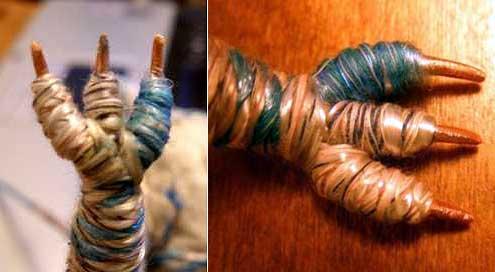 обмотанная веревкой своими руками лапка дракона ручной работы