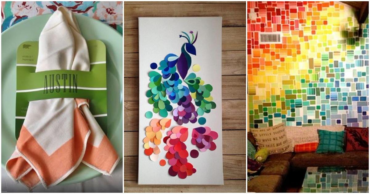 Необычные идеи: 9 способов использовать каталоги краски