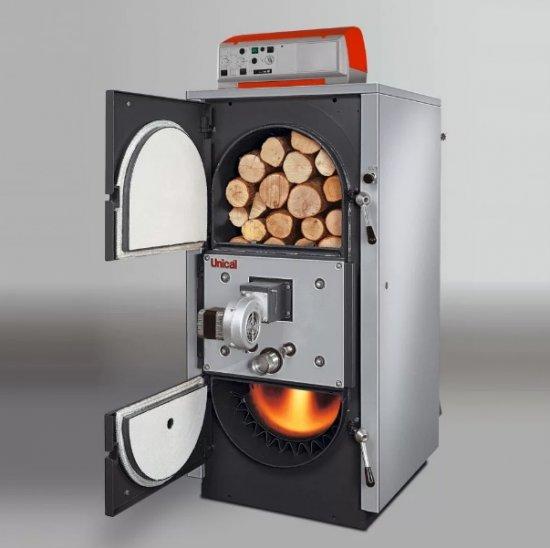 Котел на твердом топливе и на дровах - пеллетах для выработки электричества