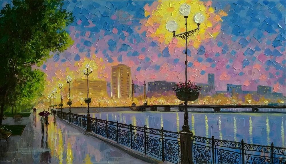 Я люблю фиолетовый вечер... Художник Александр Болотов