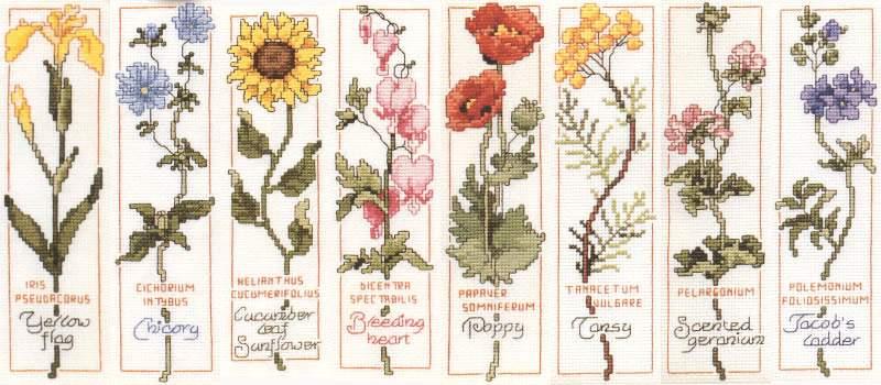 Вышивка крестом схемы гербарий
