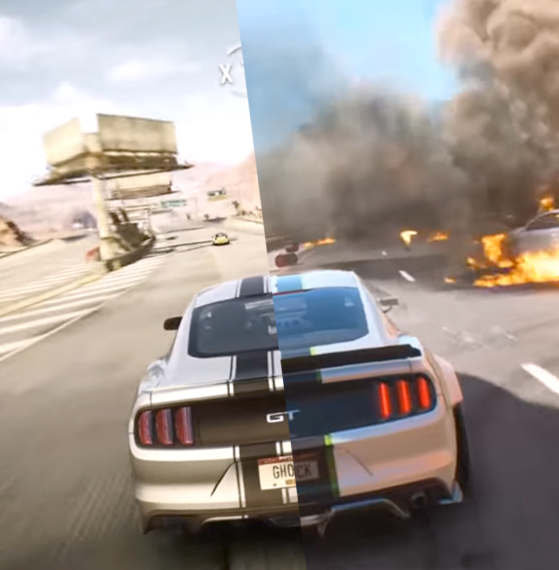 Графику Need for Speed: Payback и Rivals сравнили на видео