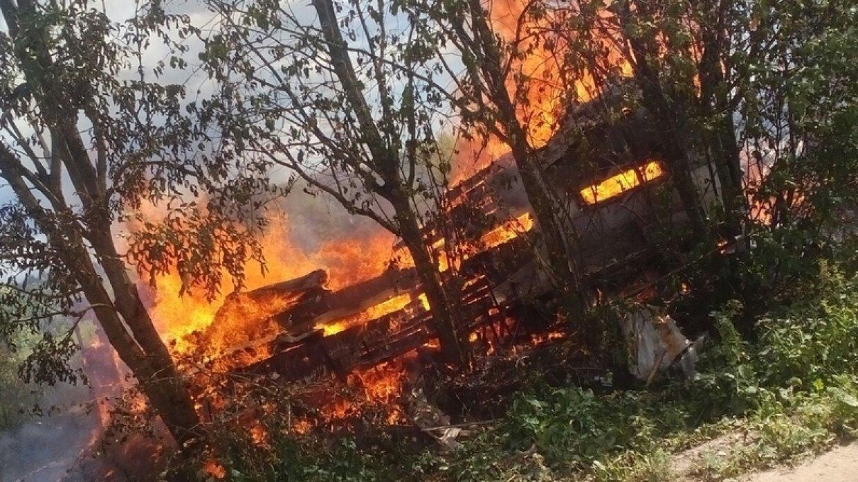 Крупный пожар произошел на п…