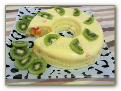 фруктово желейный торт
