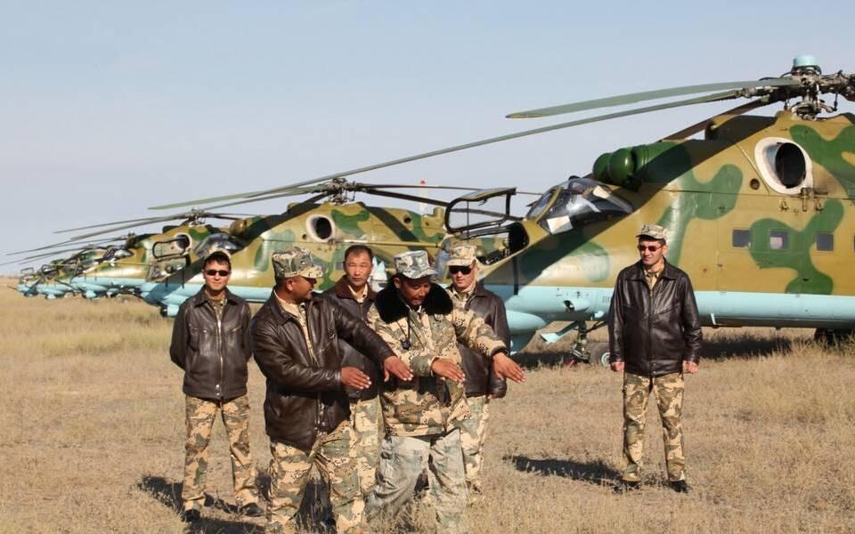 Вертолеты Ми-24 в Казахстане