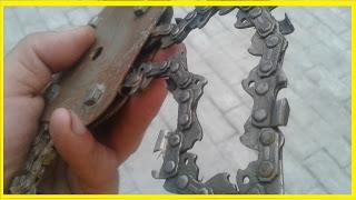 Старая цепь из бензопилы.....