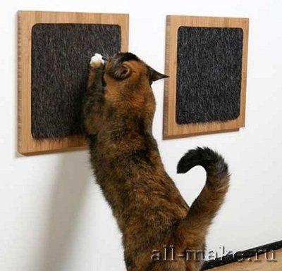 Когте-точилка для кошек своими руками