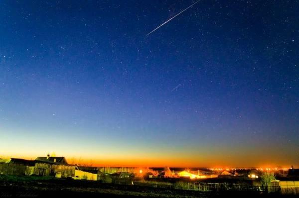 Уральский астроном снял на видео взорвавшийся в небе метеор