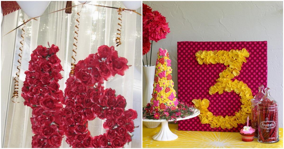 Декоративные цифры для праздника: оригинальное украшение, которое подчеркнет важное событие