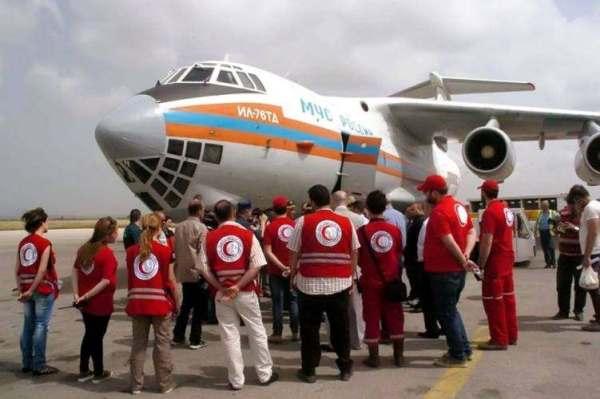 ИзАрмении вСирию самолетами МЧС России отправлено 94 тонн гумпомощи