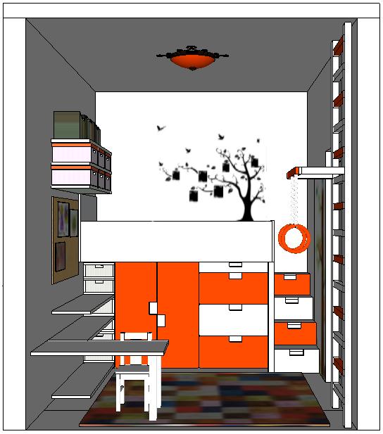 Детская комната супер-компакт (6кв.м.)