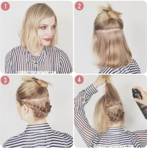 Причёски для коротких волос мастер класс