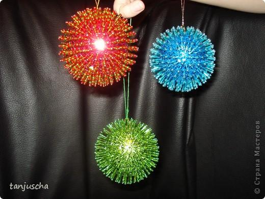 Мастер-класс Новый год Ёлочные игрушки Пайетки Пенопласт фото 3