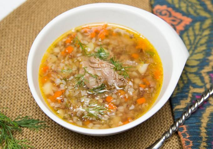 Гречневый суп с мясом