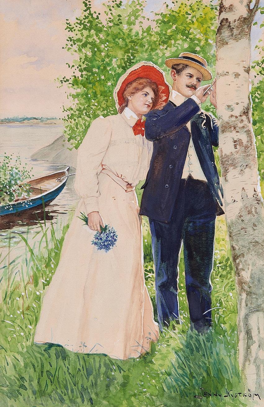 Йенни Нюстрём-JENNY NYSTROM (SWEDEN, 1854-1946)