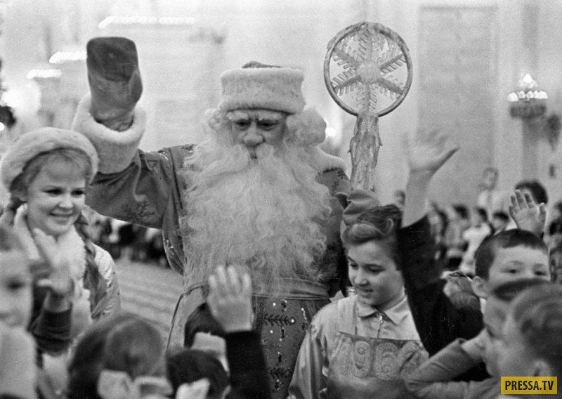 Атмосферные новогодние фотографии прямиком из СССР
