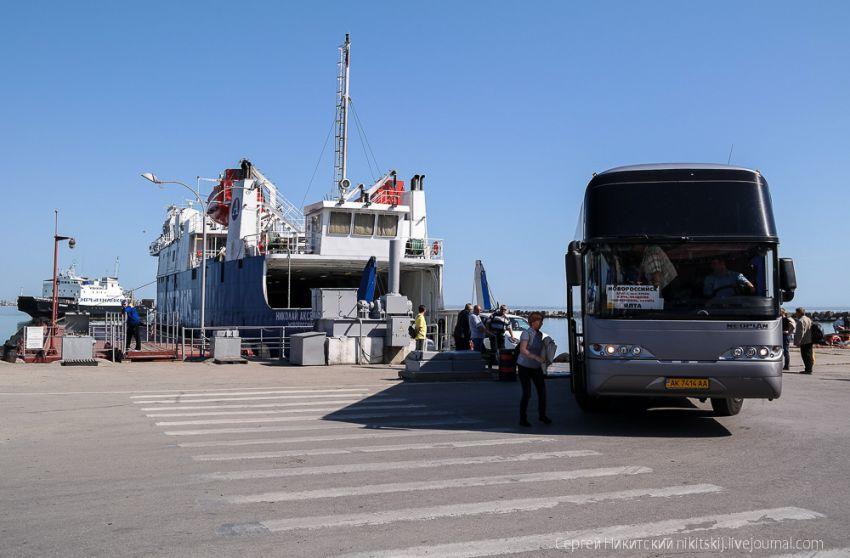 """Съездил в Крым по """"единому билету"""" отдых, паром, крым, поезд"""