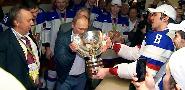 Овечкин напоил Путина. Фото