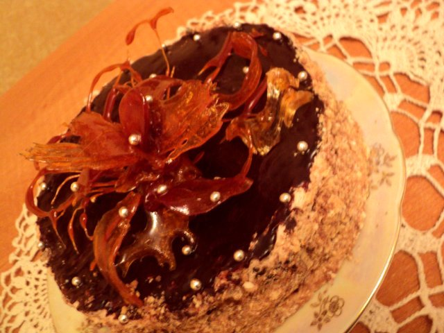 Торт «Янтарный цветок». Рецепт Людмилы Головченко