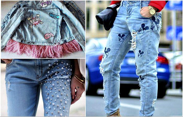 Крутые идеи, которые помогут преобразить старые джинсы