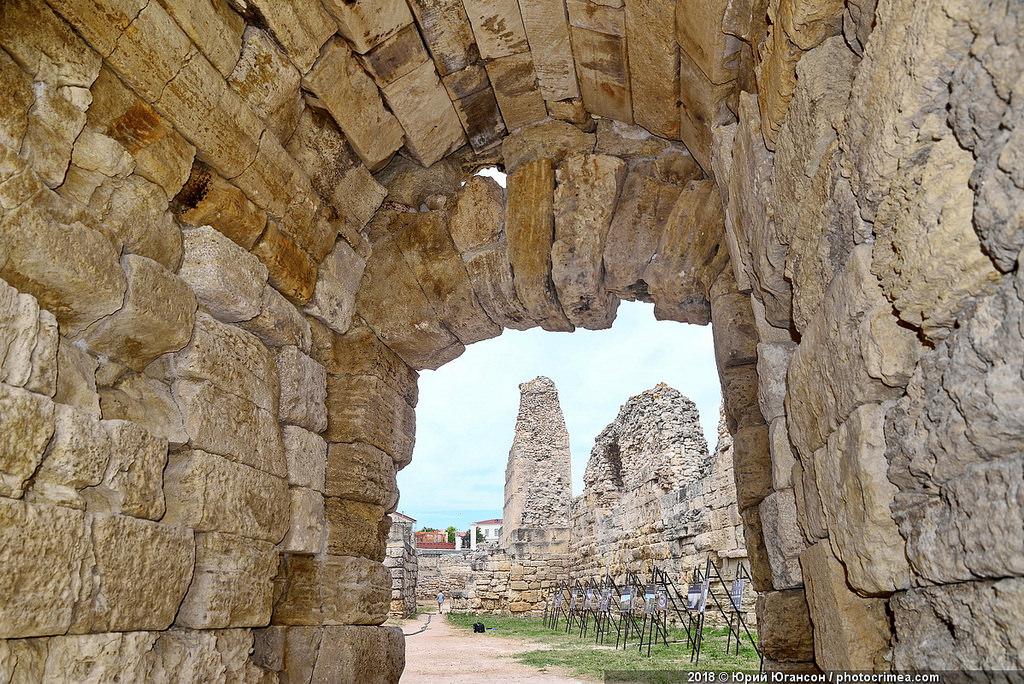 В Херсонесе отреставрировано уникальное фортификационное сооружение