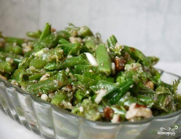 Салат с зеленой фасолью и грудкой