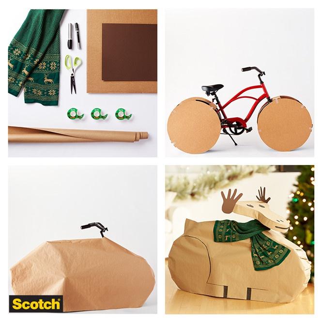 Как упаковать велосипед в подарок: Diy