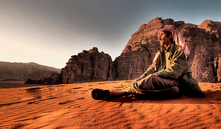 Лунная долина в Иордании