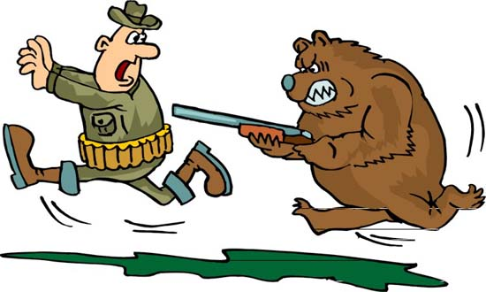 В Иркутской области медведь похитил из избушки охотника два ружья