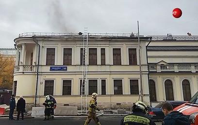 Пожар в музее личных коллекций ГМИИ им. Пушкина ликвидирован