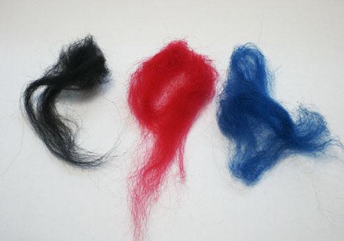 Разноцветные волокна шерсти