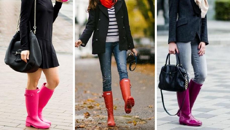 Стильно даже в дождливую погоду: с чем можно носить резиновые сапоги