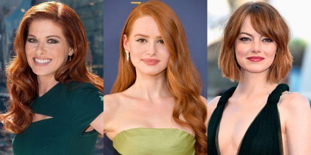 Рыжие оттенки волос