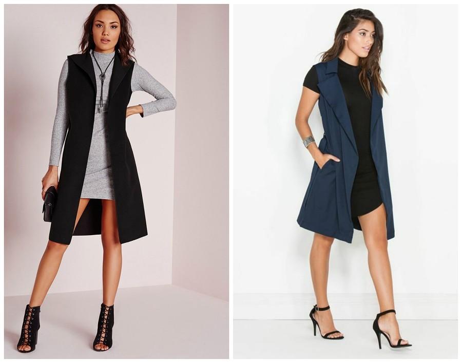 Осенняя классика: с чем носить удлиненный жилет