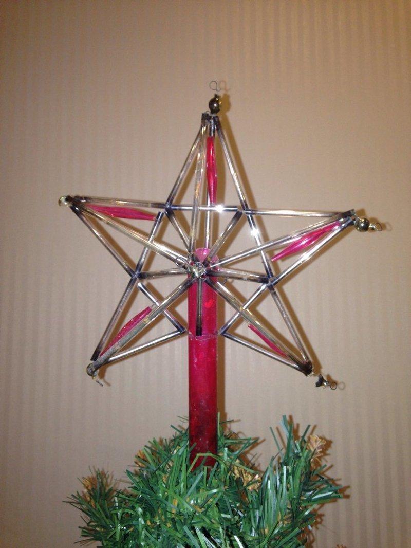 Звезда! Это конечно же, венец ёлочки! воспоминания, новый год, праздник, советские ёлочные игрушки, фото, ёлка, ёлочные игрушки