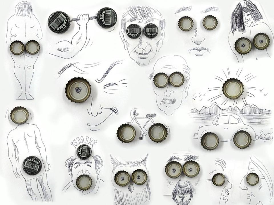 Виктор Нунес - Рисунки из пробок